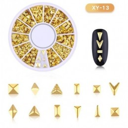 DISC 3D NAIL ART GOLD - 13